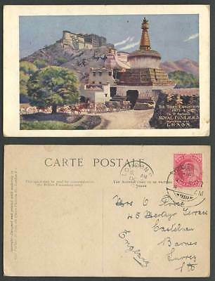 TIBET Expedition China LHASA Royal Fusiliers 1st Battalion 1a. 1907 Old Postcard