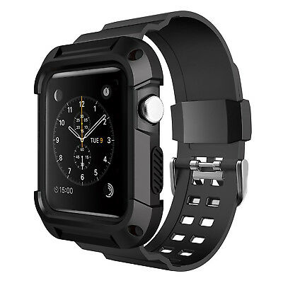 Apple Watch Sport Case 42mm Black Rugged Protective Bands Accessories Protector