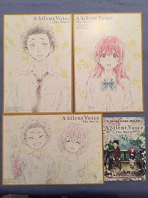 A SILENT VOICE The Movie - Promotional Artwork Set of 3 Character Portraits