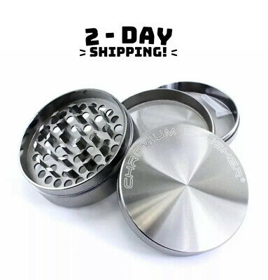 Extra Large Tobacco Grinder 3.0 inch Powerful Metal Spice/Herb Crusher - Silver