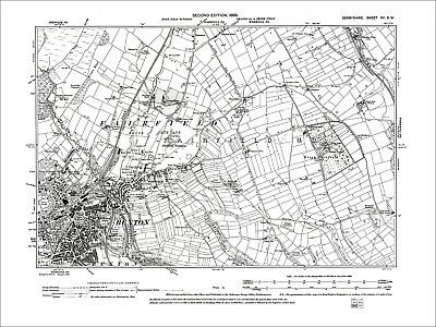 Buxton, Old Map Derbyshire 1899: 15-SW