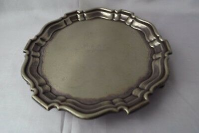 silver plated card tray mappin & webb