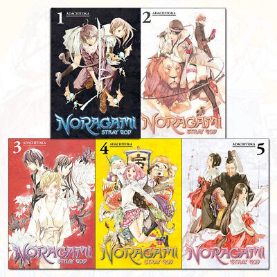Noragami: Stray God Series 1 Vol (1 to 5) Adachitoka 5 Books Collection Set Pack