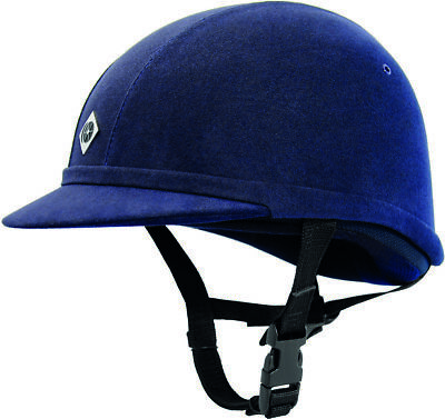 Charles Owen Yr8 Navy Size 7 1/8 (58Cm) Horse Riding Helmet Hat Protection