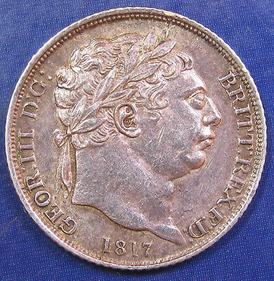1817 6d George III silver Sixpence in a very high grade