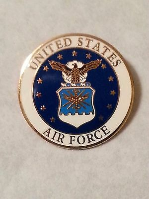 US Air Force Shield pin  Old style lapel pin 1 inch