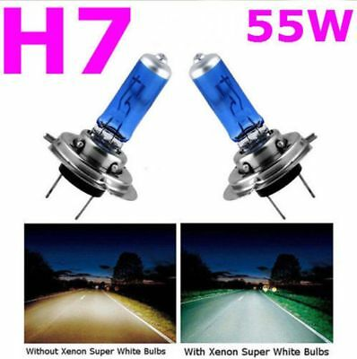 New 2x Car H7 Super White Headlight Xenon Halogen Globes Light Lamp Bulb 55W 12V