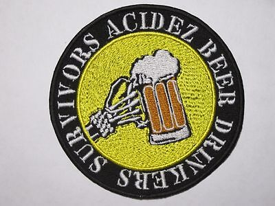 ACIDEZ Beer Drinkers Survivors embroidered NEW patch hardcore punk