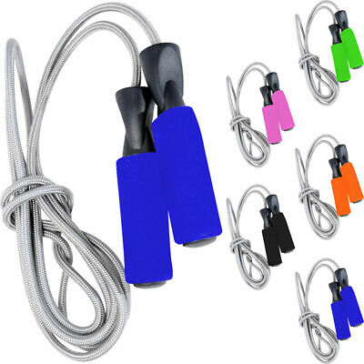 Skipping Speed Rope Weighted Fitness Boxing Cotton Jump Jumping Gym Crossfit MMA
