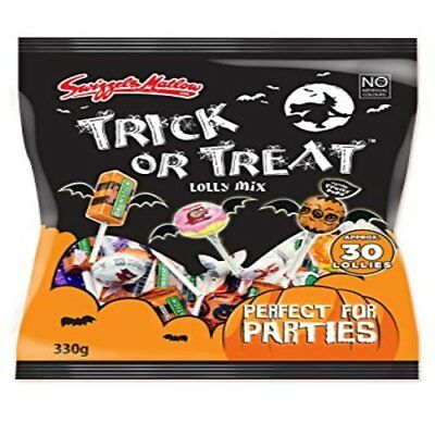 Swizzels Halloween Trick or Treat Lolly Bag 330g Approx 30 Lollies