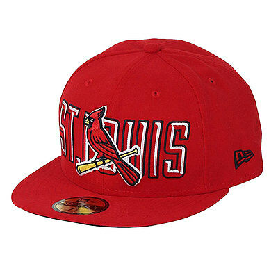 St. Louis Cardinals Bevel 59FIFTY Officially Licenced MLB New Era Fitted Cap
