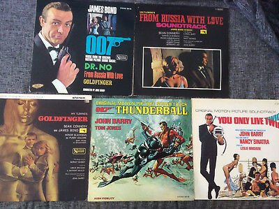 James Bond 007 John Barry [5 LP Vinyl] You Only Live Twice + Thunderball + Dr.No