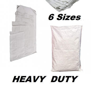 Extra Large White Woven Polypropylene Sandbags Sacks Flood Defence Sand Bags PB