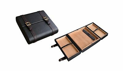 Prestige Import Group - The Augustus Leather Travel Cigar Travel Humidor - Co...