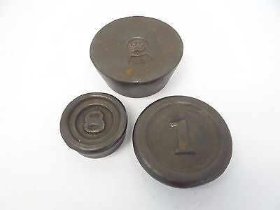 Mixed Used Lot Cast Iron Lead Weighted 1 2 & ½ Pound Scale Weights Parts