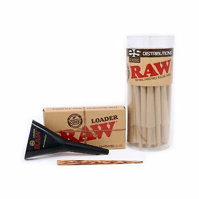 RAW Classic King Size Pure Hemp Pre-Rolled Cones With Filter (50 Pack and Con...