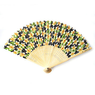 Hawaii Luau Party Favors Wedding Fabric & Wood Folding Scented Hand Fan
