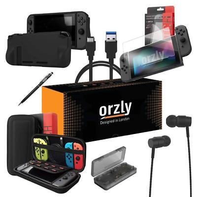 Orzly Pouch Ultimate Pack for Nintendo Switch - Black