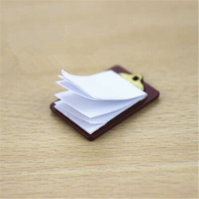 Mini Dollhouse Miniature Accessories Alloy Clipboard with Real Paper Attached