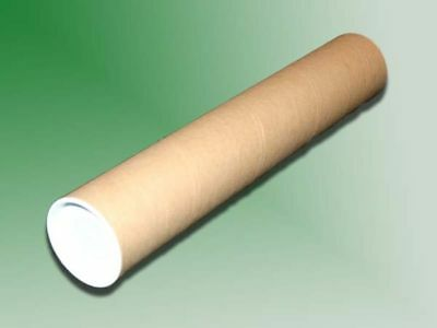 """20 - 2"""" x 24"""" Cardboard Mailing Shipping Tubes w/ End Caps - SHIPS FREE!"""
