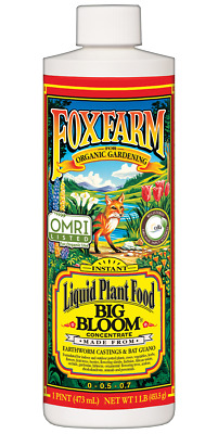 Fox Farm Big Bloom Liquid Concentrate Fertilizer, 1Pint, New, Free Shipping