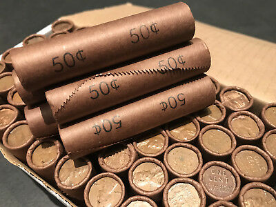 Old Unsearched Bank Rolls Wheat Cents Lincoln Pennies Us Coin Lot 1909-1958 Set!