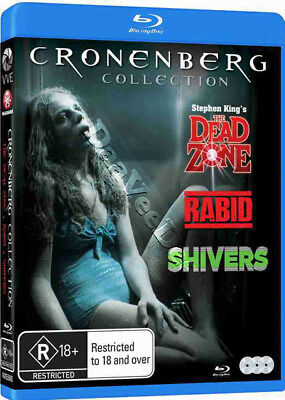 David Cronenberg Collection NEW Classic Blu-Ray 3-Disc Set Christopher Walken