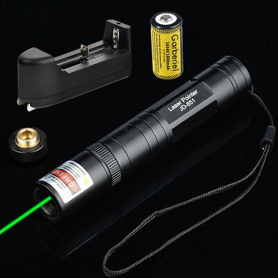 Military 20 Miles 532nm Green Laser Pointer Pen Visible Beam Star Cap+Battery US