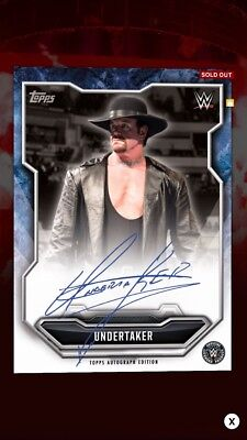 WWE Slam Topps Digital — Undertaker 400cc Signature/Autograph