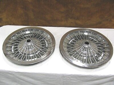 1966 Oldsmobile Cutlass F85 Starfire Holiday Spinner Wire Hubcaps Wheel Cover 2