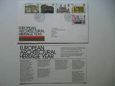 European Architectural Heritage Year 1975 Post Office First Day Cover - Excl.