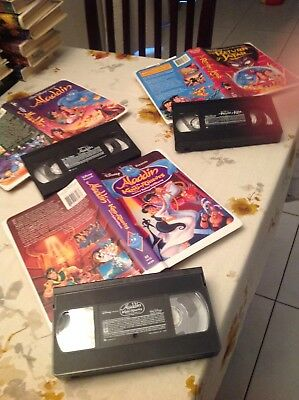 Collectible Aladdin (VHS,1993)Disney Aladdin & the King of thieves (VHS 1996)