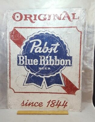 PBR ☆NEW☆ PABST BLUE RIBBON Tin metal beer sign 18x24 original