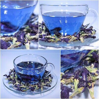 100% Thai Pure Natural Dried Butterfly Pea Tea, Blue Flowers Tea Healthy Drink