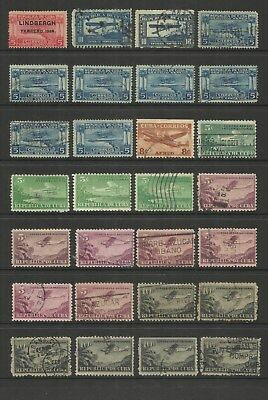Havana ~ 1928-39 Air Mail Issues  (Most Postally Used)