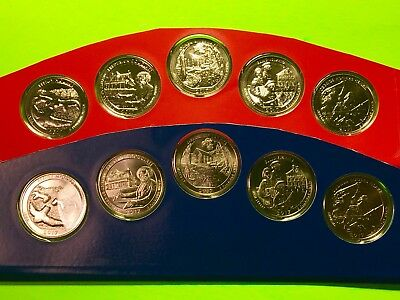 2017 America The Beautiful P & D Uncirculated Set Sealed Mint Cello 10 Coin Lot