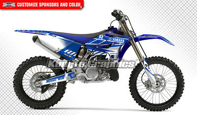 Yamaha YZ125 YZ250 YZ250X Dirt Bike Graphics Custom Decals 2015 2016 2017 2018