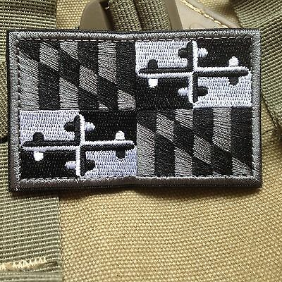 Maryland  MD STATE FLAG USA ARMY MORALE TACTICAL MILITARY BADGE PATCH/