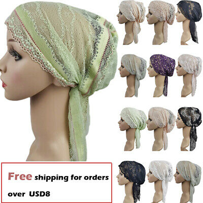 Muslim Women Lace Hat Islamic Inner Caps Headwear Underscarf Hijab Lady Headwear