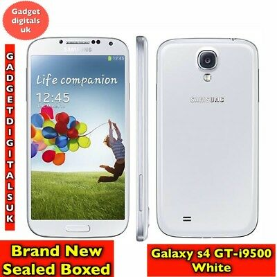 Brand New Sealed Samsung Galaxy s4 White GT-i9500 16GB Unlocked Smartphone Boxed