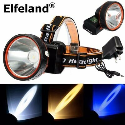 2018 30000LM Elfeland Rechargeable LED Headlight  Headlamp Torch Charger Outdoor