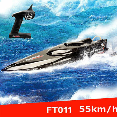 Feilun FT011 2.4G Water Cooled Brushless Motor RC Racing Boat w/Remote Xmas Gift