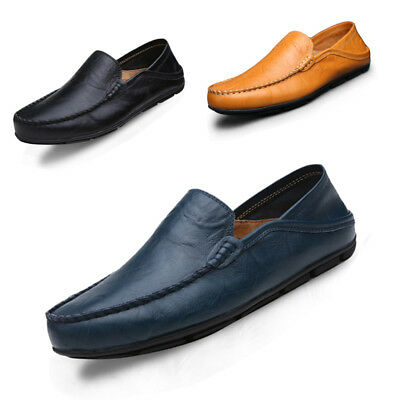 Casual Moccasin Driving Shoes Genuine Leather Loafers Men Shoes Luxury Flats