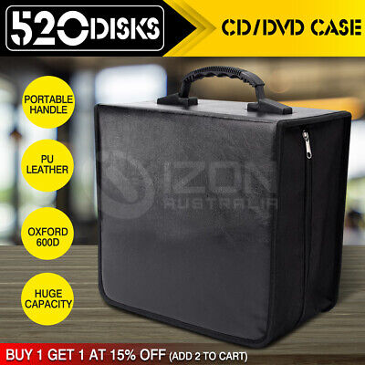520 Capacity CD / DVD Case Wallet Storage Holder Booklet Album Folder