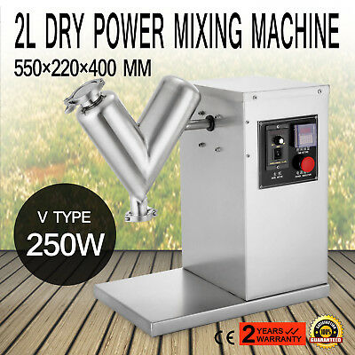 2L Granule Dry Powder Mixer Mixing Blending Machine Blender 110V Good V Type