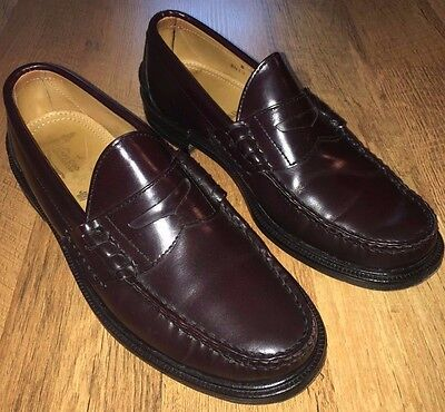 c8c8cee79de Alden Cape Cod Penny Loafer Beefroll Leather Shoes Mocc Mens Sz 8 D Burgundy