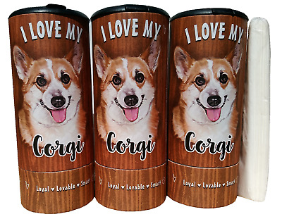 I Love my Corgi(85006) Refillable Tissue Tube with 1 Refill package