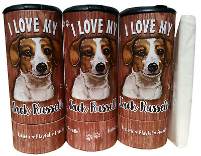 I Love my Jack Russell(85008) Refillable Tissue Tube with 1 Refill package