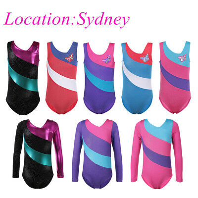1-15Y Kids Girls Ballet Leotard Pop Gymnastics Leotards Dance Costumes Bodysuit