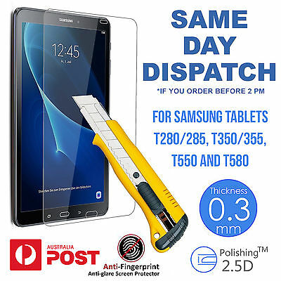 Tempred Glass Screen Protector for Samsung Tab A T350/355 T280/285 lot T 580
